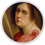 Self Portrait As A Female Martyr 1615 Round Beach Towel