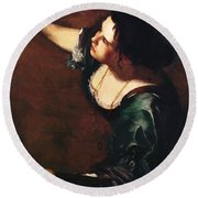 Self Portrait As The Allegory Of Painting 1639 Round Beach Towel