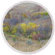 September Perfection On The Western Edge Round Beach Towel