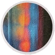 Serendipitous Abstract Round Beach Towel