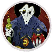 Shadow Priest Round Beach Towel