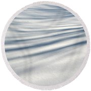 Shadows In The Snow Abstract By Artist4god Round Beach Towel by Rose Santuci-Sofranko