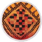 Shaman Tribal Badge Round Beach Towel