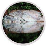 Shawanaga Rock And Reflections Iv Round Beach Towel