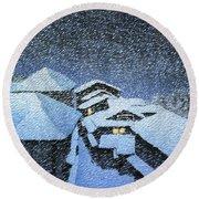 Shiobara Hataori - Digital Remastered Edition Round Beach Towel