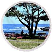 Ship Cove Park Round Beach Towel