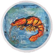 Shrimp Round Beach Towel
