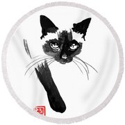 Siamese 4 Round Beach Towel