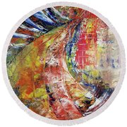 Side Effected Round Beach Towel