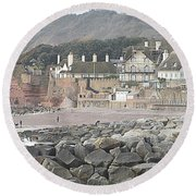 Sidmouth Sea Front Round Beach Towel