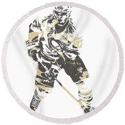 Sidney Crosby Pittsburgh Penguins Pixel Art 23 Round Beach Towel
