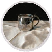 Silver Cup Round Beach Towel
