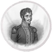 Simon Bolivar Venezuelan Statesman, Soldier, And Revolutionary Leader Round Beach Towel
