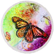 Sincere Beauty Round Beach Towel