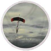 Skydiver Round Beach Towel