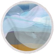 Sleep In Past 8 Round Beach Towel