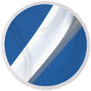 Slice Round Beach Towel by Carl Young