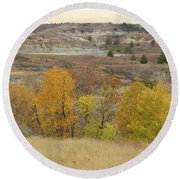 Slope County September Splendor Round Beach Towel