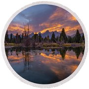 Snake River Glory Round Beach Towel