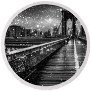 Snow Collection Set 05 Round Beach Towel