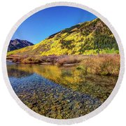 Snowmass Creek Round Beach Towel