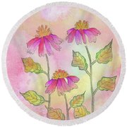 So Pretty In Pink Round Beach Towel