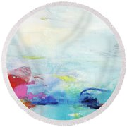Somewhere Else Round Beach Towel