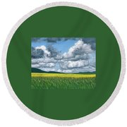Somewhere In May Round Beach Towel