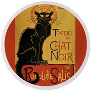 Soon, The Black Cat Tour By Rodolphe Salis - Digital Remastered Edition Round Beach Towel