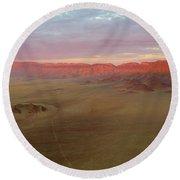 Sossusvlei Namibia Sunset Ridge Round Beach Towel
