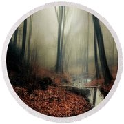 Sounds Of Silence Round Beach Towel
