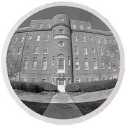 South Carolina State Hospital Black And White Round Beach Towel by Lisa Wooten