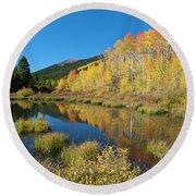 South Elbert Autumn Beauty Round Beach Towel by Cascade Colors
