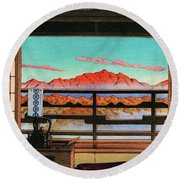 Spa Hotel Morning - Digital Remastered Edition Round Beach Towel