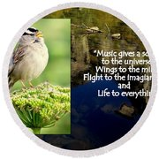 Sparrows Music Round Beach Towel