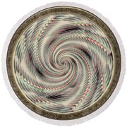 Spinning A Design For Decor And Clothing Round Beach Towel