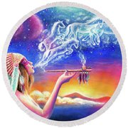 Spirit Round Beach Towel
