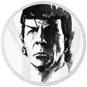 Spock Round Beach Towel