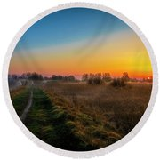 Spring Morning At 5.51 Round Beach Towel