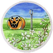 Spring-o-ween Round Beach Towel
