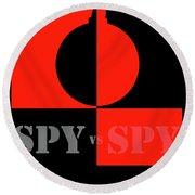 Spy Vs Spy Round Beach Towel