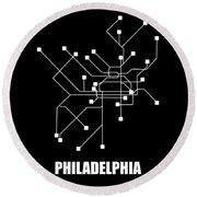 Square Philadelphia Subway Map Round Beach Towel