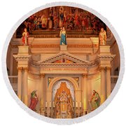 St. Louis Cathedral Altar New Orleans Round Beach Towel