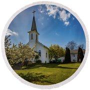 St. Paul's Catholic Church 2 Round Beach Towel