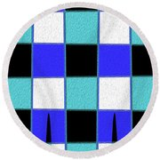 Stand Tall C Round Beach Towel