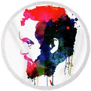 Stanley Watercolor Round Beach Towel