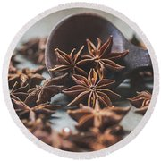 Star Anise 4825 By Tl Wilson Photography  Round Beach Towel