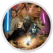 Star Wars Episode II Round Beach Towel