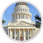 State Of California Capitol Building 7d11736 Round Beach Towel