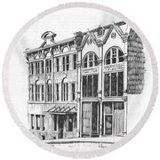 State Publishing And Parchen Building Helena Montana Round Beach Towel